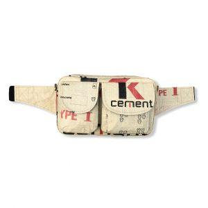 Beadbags Bauchtasche aus recycelten Zementsack CR25 Rot vorne gesamt