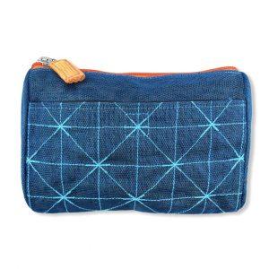 Beadbags Kosmetiktasche aus reused Moskitonetz NET19 Darkblue vorne