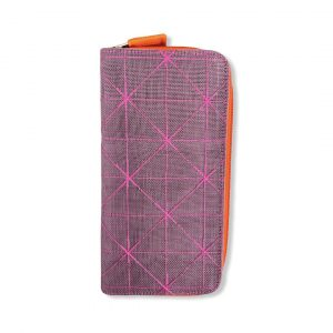 Beadbags Karten Geldbörse aus reused Moskitonetz Net18 Violett