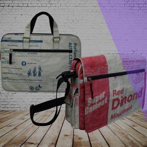 Taschen & Co.: tropischer Zementsack: Beadbags Crispy