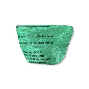 Beadbags Universal-/ Pflanzenbehälter aus recycelten Reissack Ri33 Dunkelgrün vorne