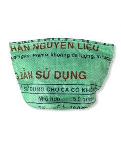 Beadbags Universal-/ Pflanzenbehälter aus recycelten Reissack Ri33 Mittelgrün vorne