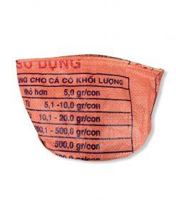Beadbags Universal-/ Pflanzenbehälter aus recycelten Reissack Ri33 Orange vorne