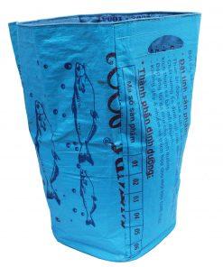 Upcycling beadbags Tragetasche aus recyceltem Reissackmaterial gefertigt in Kambodscha 39ccc