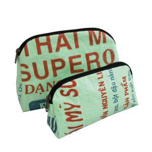 Ri29 Kulturtasche und Kosmetiktäschchen klassisch Beadbags Crispy nachhaltig und fair