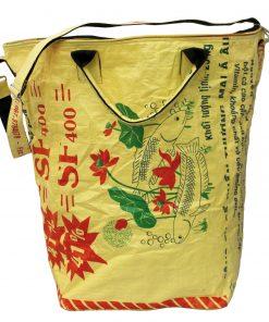 Upcycling beadbags Tragetasche aus recyceltem Reissackmaterial gefertigt in Kambodscha 3cc