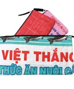 Upycycling Beadbags nachhaltige Tragetasche und Kosmetiktaschen aus recyceltem Reissackmaterial gefertigt in Kambodscha 8bbb