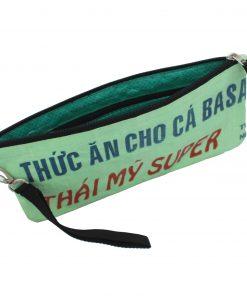 Upycycling Beadbags nachhaltige Tragetasche und Kosmetiktaschen aus recyceltem Reissackmaterial gefertigt in Kambodscha 20bb
