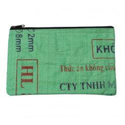 Upycycling Beadbags nachhaltige Tragetasche und Kosmetiktaschen aus recyceltem Reissackmaterial gefertigt in Kambodscha 1bbb