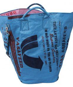 Upycycling Beadbags nachhaltige Tragetasche und Kosmetiktaschen aus recyceltem Reissackmaterial gefertigt in Kambodscha 16bb