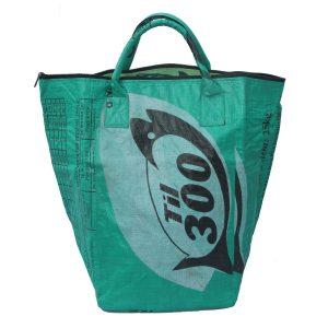 Upycycling Beadbags nachhaltige Tragetasche und Kosmetiktaschen aus recyceltem Reissackmaterial gefertigt in Kambodscha 12bb
