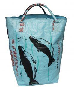 Upycycling Beadbags nachhaltige Tragetasche und Kosmetiktaschen aus recyceltem Reissackmaterial gefertigt in Kambodscha 33b
