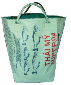 Upycycling Beadbags nachhaltige Tragetasche und Kosmetiktaschen aus recyceltem Reissackmaterial gefertigt in Kambodscha 41b