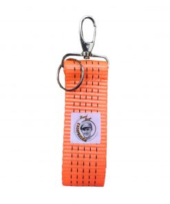 Beadbags Tampenjan Schlüsselanhänger aus recycelte Orange Hafenspanngurte vorne