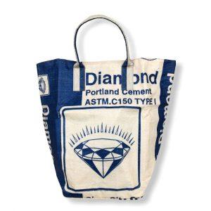 Beadbags Universaltasche / Wäschesack aus recycelten Zementsack CRL25 Blau Vorne