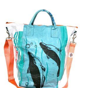 Upcycling Tampenjan Universaltaschen und Wäschesäcke aus recycltem Reissackmaterial und recycelten Spanngurten aus dem Hamburger Hafen 51 TJ
