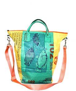 Upcycling Tampenjan Universaltaschen und Wäschesäcke aus recycltem Reissackmaterial und recycelten Spanngurten aus dem Hamburger Hafen 48 TJ
