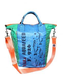 Upcycling Tampenjan Universaltaschen und Wäschesäcke aus recycltem Reissackmaterial und recycelten Spanngurten aus dem Hamburger Hafen 39 TJ