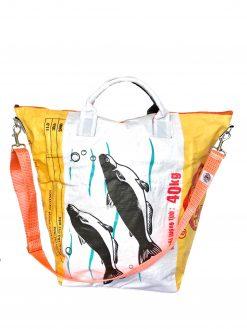 Upcycling Tampenjan Universaltaschen und Wäschesäcke aus recycltem Reissackmaterial und recycelten Spanngurten aus dem Hamburger Hafen 30 TJ