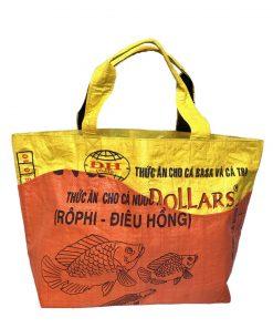 Upycycling Beadbags Tragetasche aus recyceltem Reissackmaterial gefertigt in Kambodscha 20