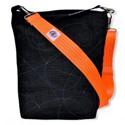 Beadbags Schultertasche BI2 NET3 schwarz vorne