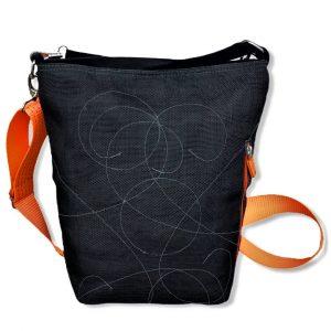 Beadbags Schultertasche BI2 NET3 schwarz hinten