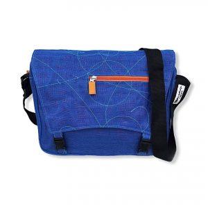 Beadbags Upcycling Schultertasche Net6 Blau