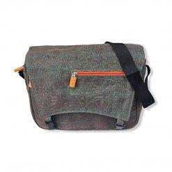 Beadbags Upcycling Schultertasche Net6 Grün