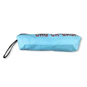Schlampermäppchen Ri72 aus recycelten Reissackmaterial in hellblau   Beadbags