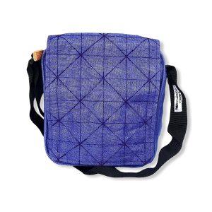 Beadbags Upcycling Schultertasche NET13 Violett vorne