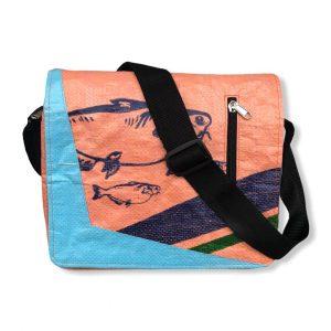 Beadbags Schultasche Joseph aus recycelten Reissack Ri81 Orange Vorne