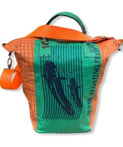 Upcycling Tampenjan Universaltaschen und Wäschesäcke aus recycltem Reissackmaterial und recycelten Spanngurten aus dem Hamburger Hafen TJ16S