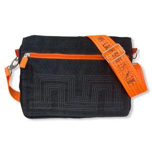 Beadbags Schultasche aus Reused Moskitonetz mit Tampenjangurt NET12 Schwarz 02