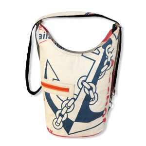 Beadbags Schultertasche aus recycelten Zementsack CR12 Anker