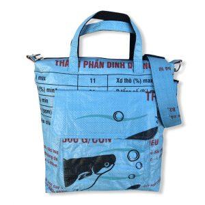 Beadbags Tragetasche aus recycelten Reissack Ri2 vorne hellblau