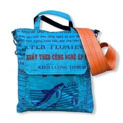 Beadbags Tragetasche aus recycelten Reissack mit Schwerlastgurt Ri2 Blau 01