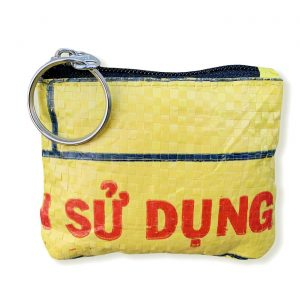 Schlüsselanhänger aus recycelten Reissack in gelb | Beadbags