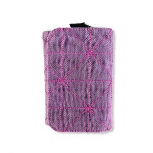 Geldbörse mit 3 Fächern aus reused Moskitonetz in violett | Beadbags