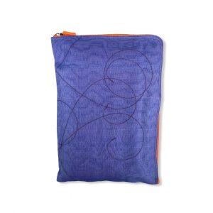 Beadbags Laptophülle 15 Zoll aus reused Moskitonetz NET25 Violett Rechts