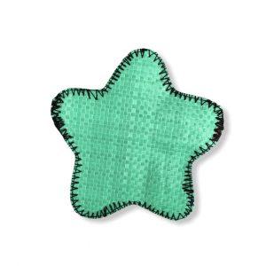 Beadbags Stern Geldbörse aus recycelten Reissack Ri95 Mittelgrün vorne