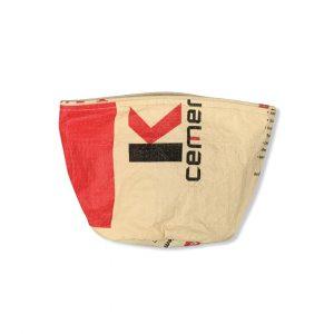 Beadbags Universal-/ Pflanzenbehälter aus recycelten Zementsack Ri33 Rot vorne
