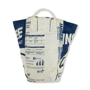 Beadbags Große Universaltasche /Wäschesack aus recycelten Zementsack CRL24 Blau