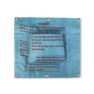 Beadbags Upcycling Wandtaschen aus recycelten Reissack RiG1 Hellblau vorne