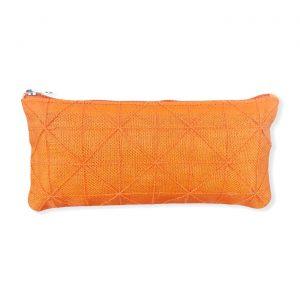 Federmappe aus reused Moskitonetz in orange | Beadbags