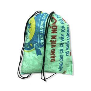 Sportbeutel aus recycelten Reissack