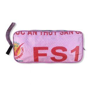 Kosmetiktasche aus recycelten Reissack in rosa | Beadbags