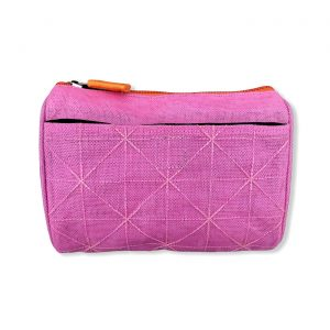 Kosmetiktasche aus reused Moskitonetz in Pink | Beadbags