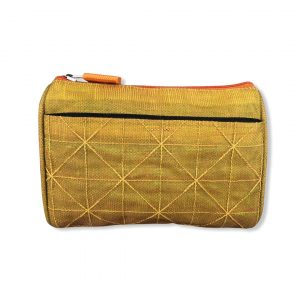Kosmetiktasche aus reused Moskitonetz in Gelb | Beadbags