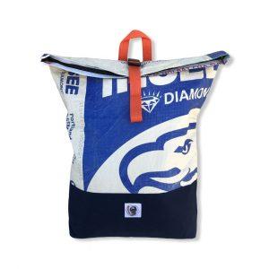 Life Backpack Rucksack aus recycelten Zementsack in blau | Beadbags