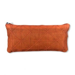 Schmales Federmäppchen aus reused Moskitonetz in orange | Beadbags